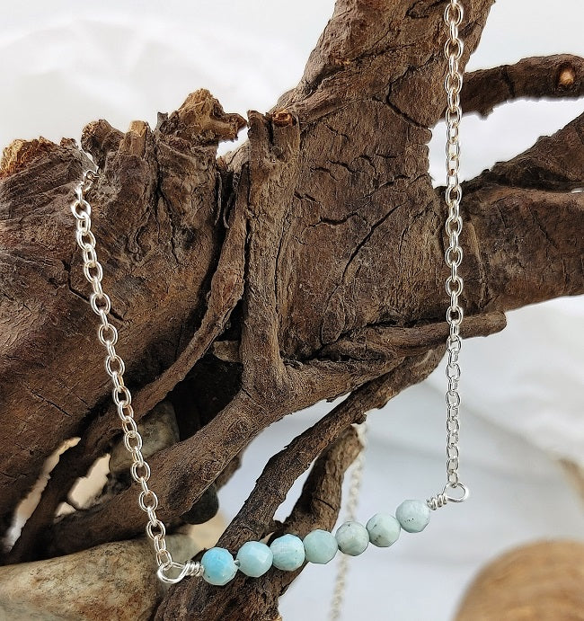 Larimar Bar necklace