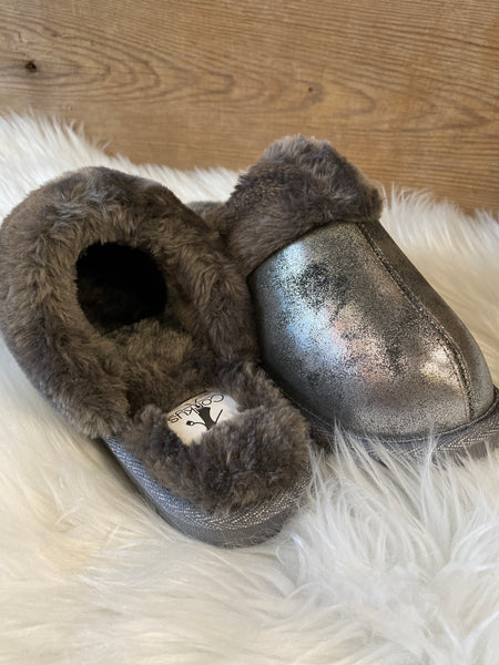 Pewter Corky's Snooze Slipper