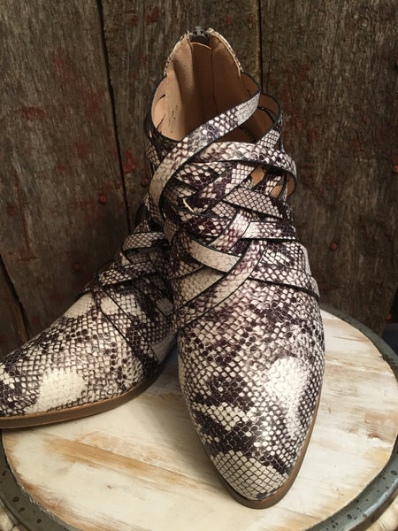 Snakeskin Ankle Bootie