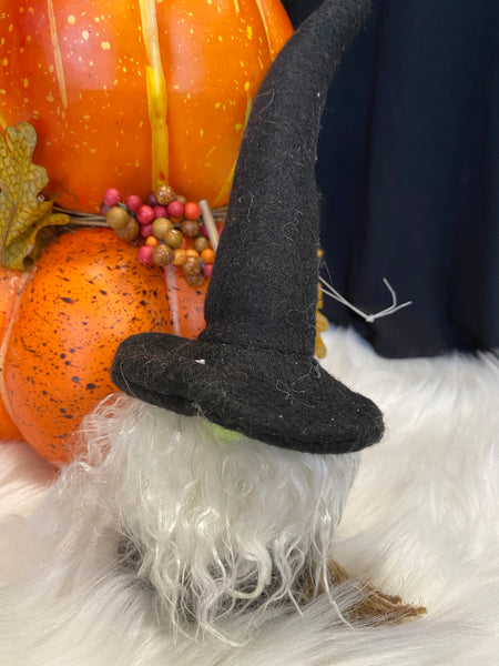 Witch Gnome Ornament with Broom