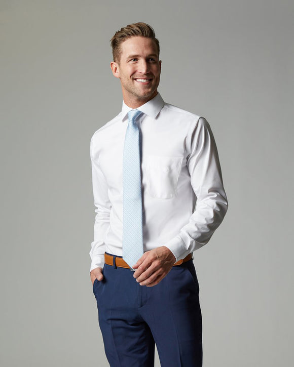 Tempo Slim Fit Non-Iron Pocketed Dress Shirt (Stretch Fabric)