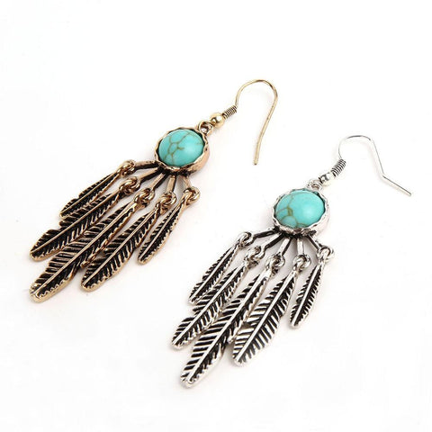 Cowgirl-Tribal Feather Earrings - Cowgirl Vibes