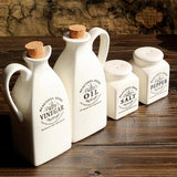 White Ceramic Spice & Bottle Set - Cowgirl Vibes