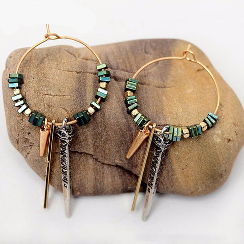 Vintage Cowgirl Hoop Drop Earrings - Cowgirl Vibes
