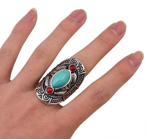 Vintage Cowgirl Silver Ring - Cowgirl Vibes