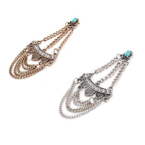 Vintage Cowgirl Chandelier Stone Earrings (Gold or Silver) - Cowgirl Vibes