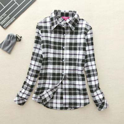Black & White Long-Sleeve Plaid Shirt - Cowgirl Vibes