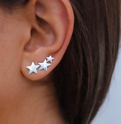 100% 925 Sterling Silver Cowgirl Texas Star Ear cuff - Cowgirl Vibes