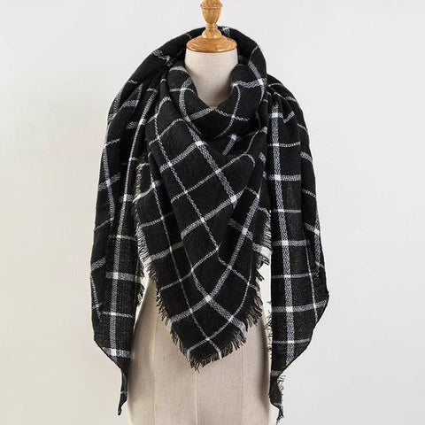 Cashmere Wool Plaid Scarf - Cowgirl Vibes