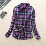 Purple Long-Sleeve Plaid Shirt - Cowgirl Vibes