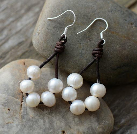 Cowgirl Pearl Earrings - Cowgirl Vibes