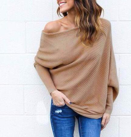 Sexy Dew Shoulder Batwing Sleeve Top - Cowgirl Vibes