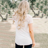 Country Girl Lace Shoulder Top - Cowgirl Vibes
