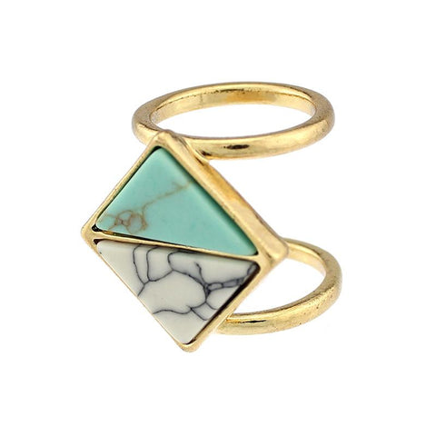 Natural Stone Triangle Ring - Cowgirl Vibes