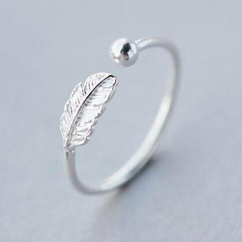 925 Sterling Silver Feather Ring - Cowgirl Vibes