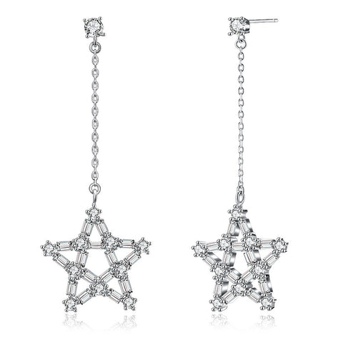 Cowgirl Loan Star Earrings S925 Sterling Silver