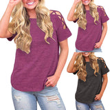 Country Girl Cut Out Shoulder Top