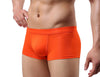 Free Men's Modal Solid Color Boxer Brief Underwear - Orange