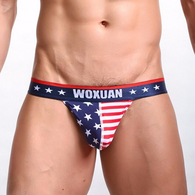 Men's American Flag Bikini Brief