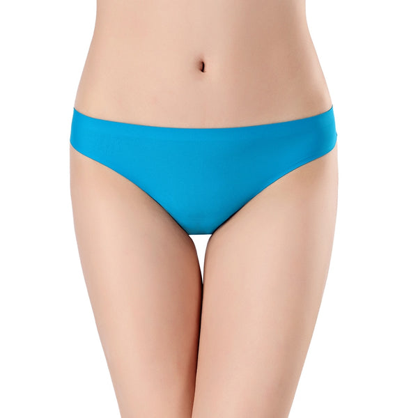 Women's Invisible Lace Thong - Blue