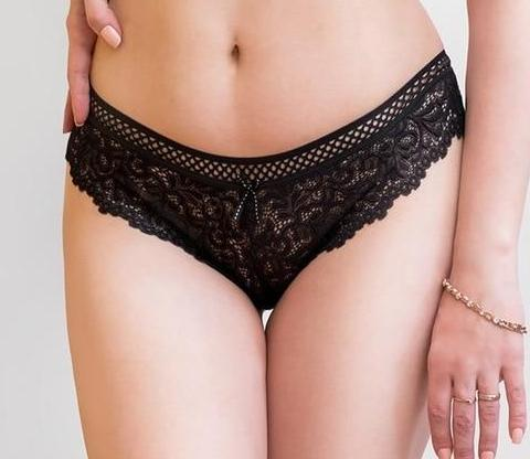 Women's Lace Hipster Panties - Beige