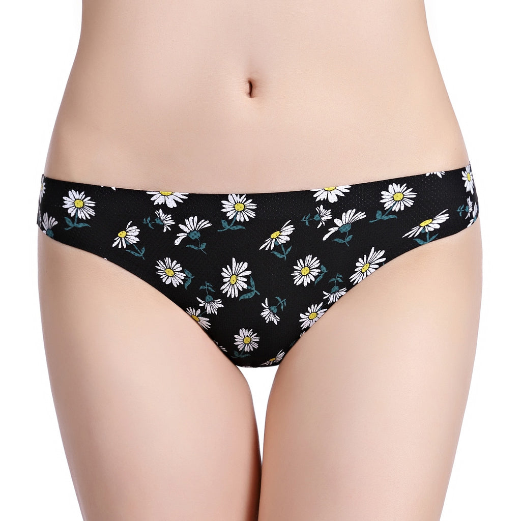 Women's Floral Print Thong Underwear - Daisy