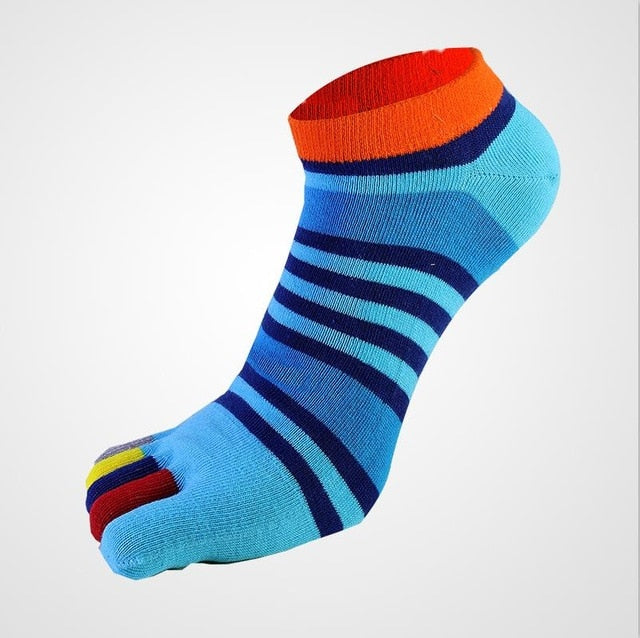 Colorful Toe Socks - Blue Light Dark