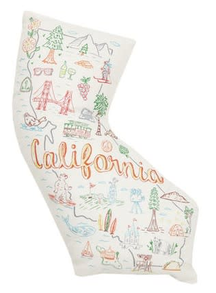 California Shaped Pillow 14x16.7in