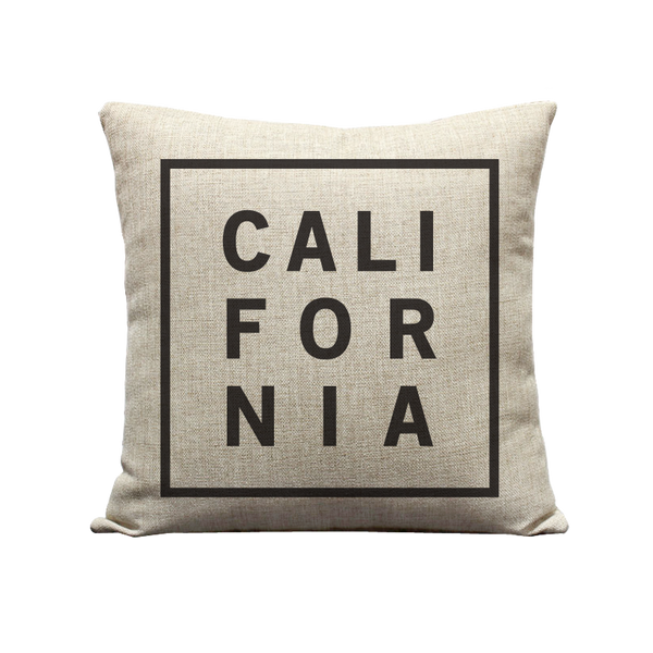 18x18in California Block Pillow