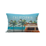 12x20in Vintage California Bus Pillow