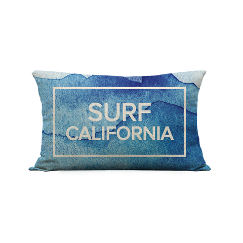12x20in Surf California Pillow