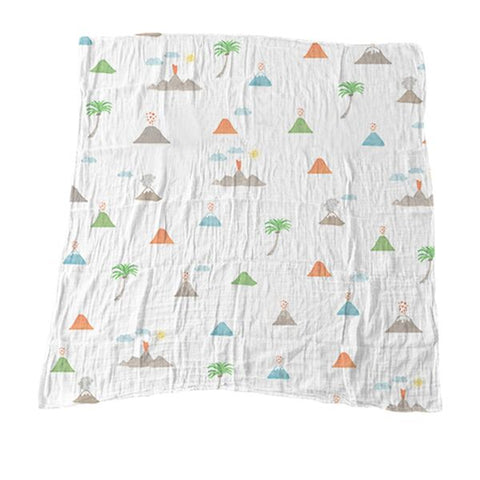 Hawaii Volcano Muslin Blanket