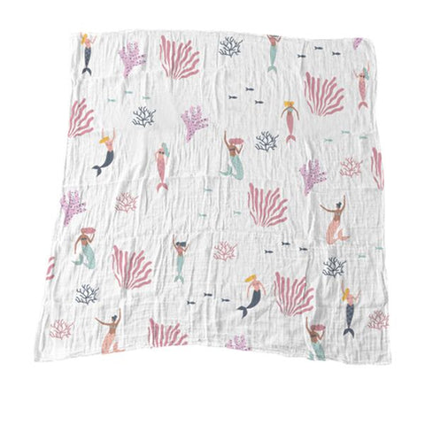 Mermaids of Hawaii Muslin Blanket