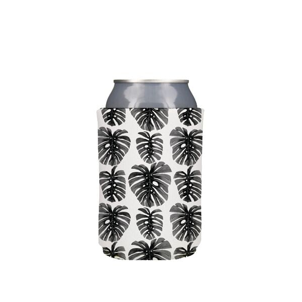 Black Monstera Koozie