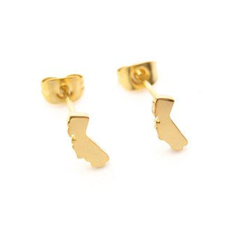 California Earrings - Gold