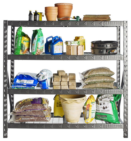 "77"" Wide Heavy Duty Rack with 4 x 24"" Deep Shelves"
