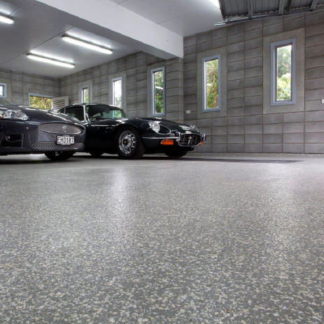 SHOWROOM Polyaspartic resin concrete coating