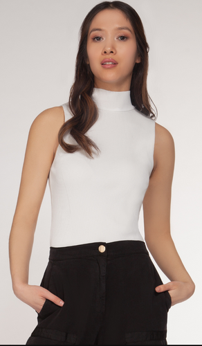 Black Turtleneck Tank