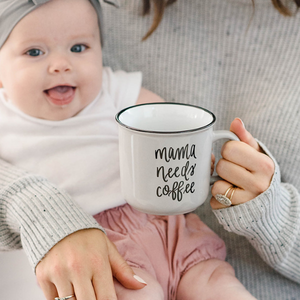 Mama Needs Coffee Campfire Mug