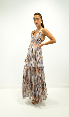 Multicolor Tiered Maxi Dress