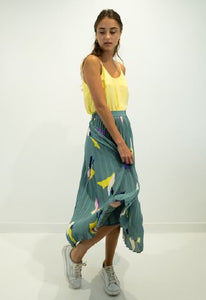 Teal Multicolor Skirt