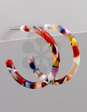 Load image into Gallery viewer, 30 mm Acrylic Hoops