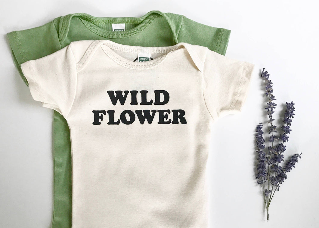 Wild Flower Baby Onesie Long Sleeve