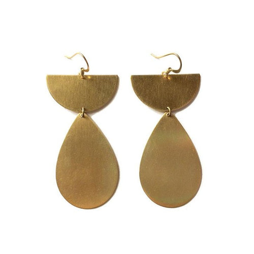 Half Circle Teardrop Earrings