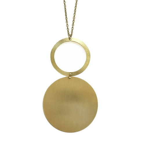 Double Circle Statement Necklace