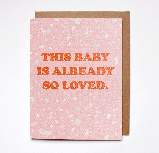 Baby so loved card