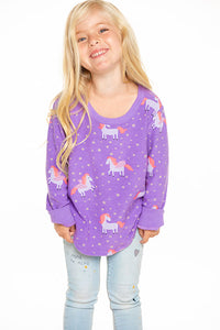 Electric Unicorn Girls Pullover