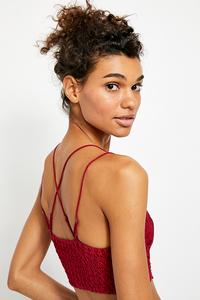 Dark Red Adella Bralette