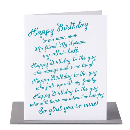 Happy Birthday Lover Rant Card