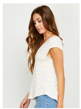 Load image into Gallery viewer, Striped Nora Tee